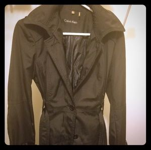Womens Calvin Klein belted all weather jacket